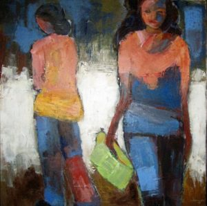 Walk on by 2 80x80cm